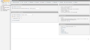 Interface de phpMyAdmin