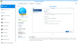 Installation de WebStation sur DSM 6