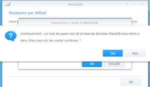 Réinitialisation du mot de passe root de MariaDB/phpMyAdmin