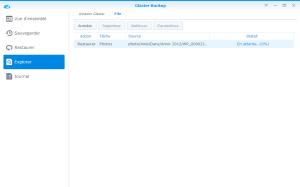 Restauration du fichier en cours