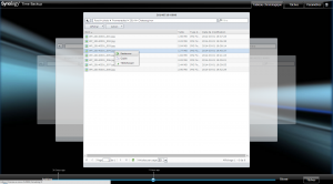 Restaurer une ancienne version d'un fichier - Time Backup Synology
