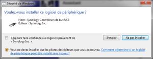 Installation du contrôleur de bus USB