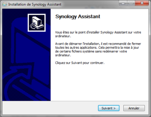 Installation de Synology Assistant