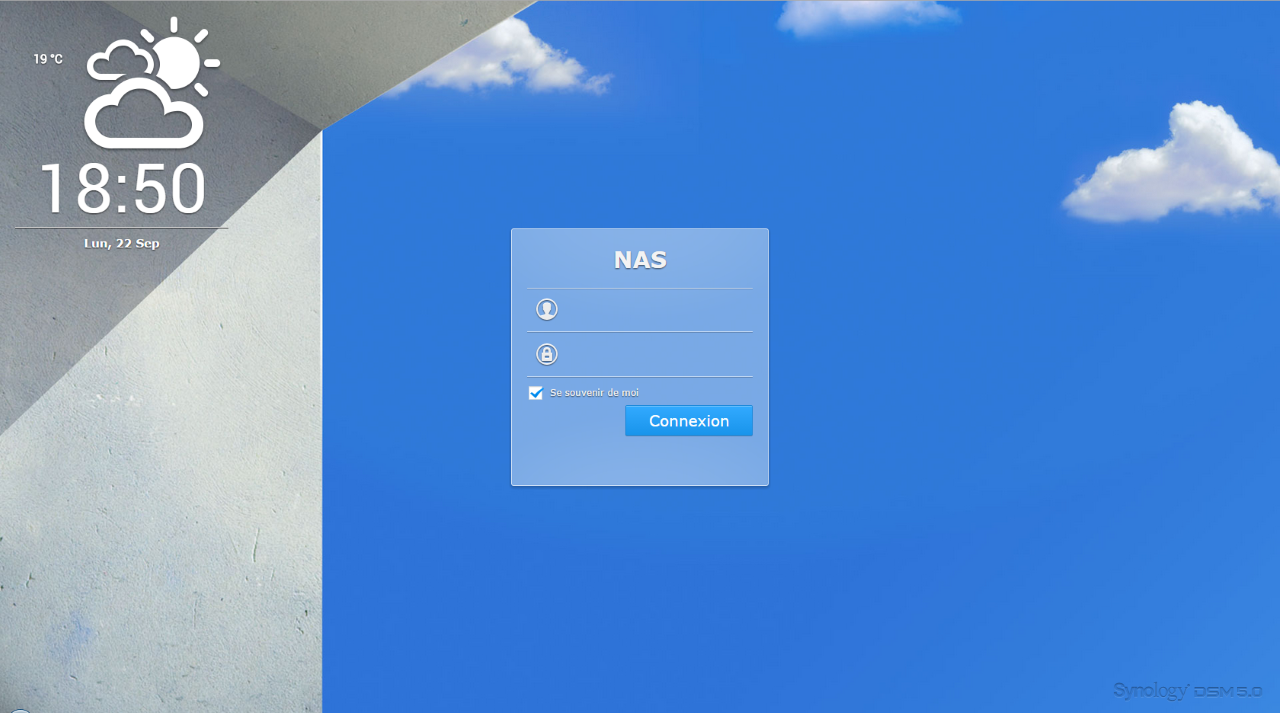 L'interface de Diskstation