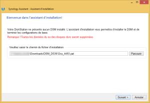 Installation de DiskStation Manager sur le NAS