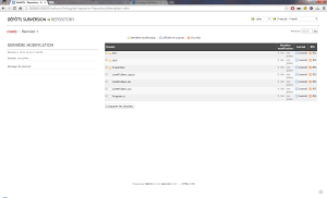 Interface de WebSVN