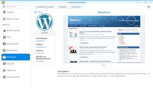 Application WordPress Synology