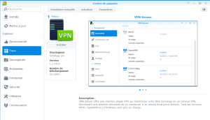 Installation de VPN Server sur un NAS Synology