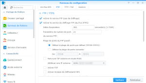 Activation du serveur FTP du NAS Synology