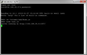 Exécution du serveur Web Node.js