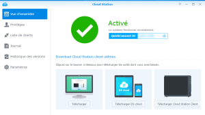Interface de Cloud Station