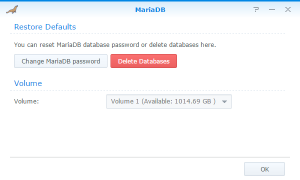 Installing MariaDB on a Synology NAS