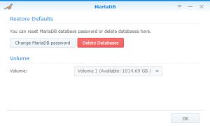 Installing MariaDB on a Synology NAS