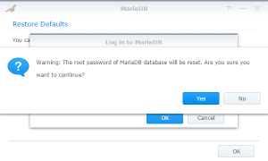 Reset the root password MariaDB