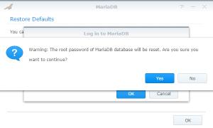 Reset the root password MariaDB
