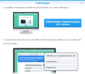 Téléchargement du client Cloud Station pour Windows