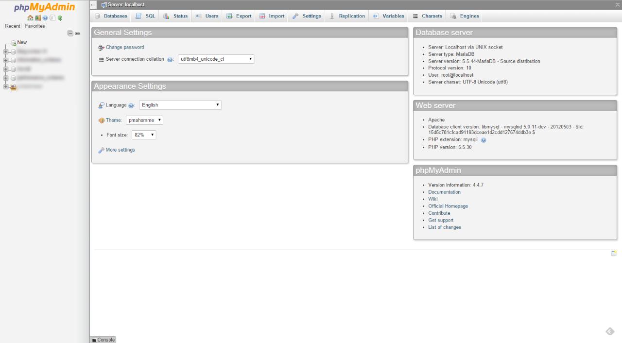 phpMyAdmin: Installation on a Synology NAS